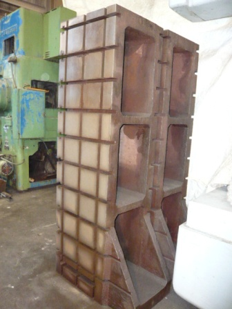 1-Pair 19 x72 Heavy Duty Cast Iron 3 Sided Angle Plates, T Slots, Excellent
