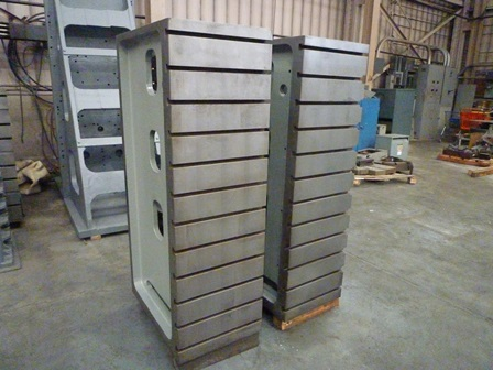 20 x 60 Heavy Duty Cast Iron Angle Plates, 10 T slots, 26 deep
