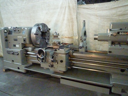 32 x65 WEIPERT, WP650E, 9 1/4 Hollow Spindle, Power Tailstock, Chuck, Steady