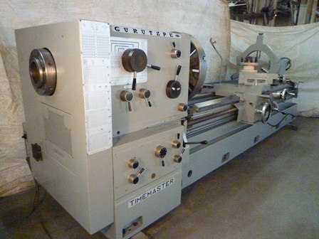 33 /50 x128 , GURUTZPE, 5.5 Hole, In/MM, Taper, 28 4 Jaw Chuck, Steady, 1980