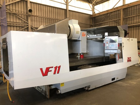 Haas VF 11, 120 X,40 Y,30 Z, CAT40, 30HP, 10,000 RPM, Low Hours, Aerospace, 2001