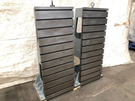 24 w x 60 h, Heavy Duty Angel Plates,(12) T slots, 22 deep, Excellent Condition