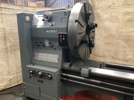 50 x 240 WEIPERT, 12 Hollow Spindle, Inch/Metric, DRO, Chuck, Steadies, 1971